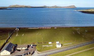 An Gaeltacht GAA Pitch at Gallaras. Photograph by Mossy Donegan