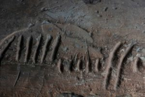 Detail of an Ogham Stones from West Kerry Museum